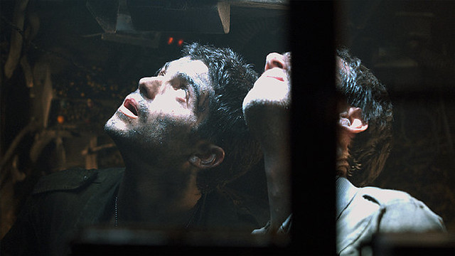 Claustrophobic soldiers deal with war in 'Lebanon' from inside a tank.