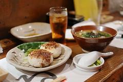 Kanazawa Arrival (ukaaa) Tags: food ice japan bar miso restaurant rice tea balls samsung nippon kanazawa nihon baked nx10