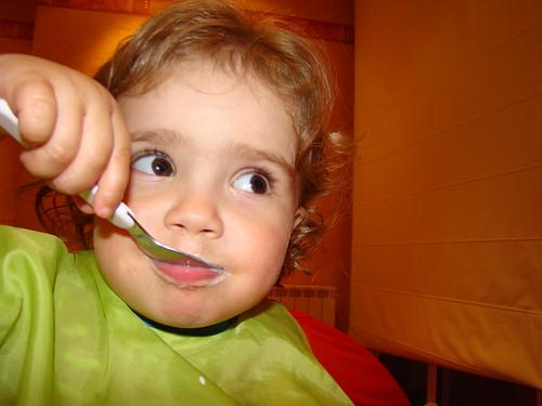 Mmm le bon yaourt de maman