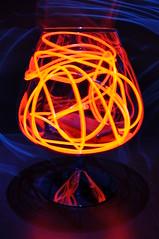 (Martin Barland) Tags: longexposure light red lightpainting glass lights wire stem nikon el lighttrails d90