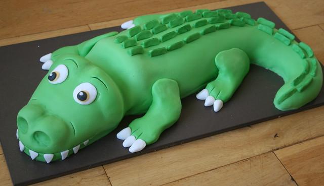 Green Crocodile Cake