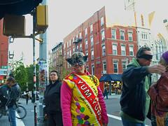Candy Coated (UrbanphotoZ) Tags: newyorkcity eastvillage newyork halloween yellow costume mask manhattan lowereastside yumyum candycoated