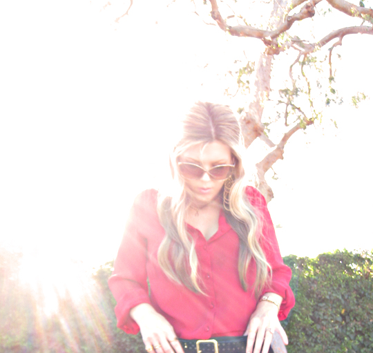 vintage red blouse+tom ford sunglasses+sun+sharm