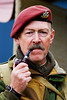 Red Beret (▓▒░♠ ★Rob H ♠░▒▓) Tags: portrait moustache airshow reenactment officer paratrooper pipesmoker redberet littlegransden nikond80 pieceofshittamron70300