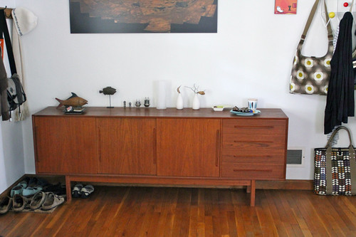 new credenza and shelf storage