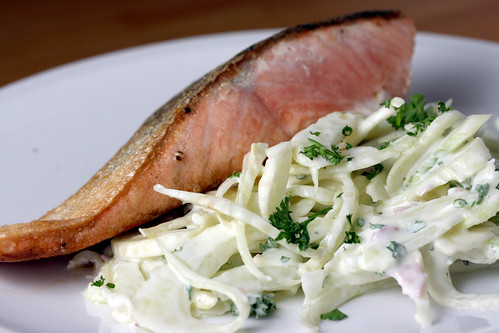 Salmon with fennel remoulade