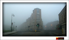 Early Morning Argyle St, Glasgow (moi_images) Tags: road street morning mist fog lights scotland glasgow junction lamppost argyle