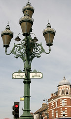 Old street lights (Peter Denton) Tags: city england streets london europe streetlights directions streetsigns roadsigns tooting londonist fingerpost tootingbroadway canoneos400d peterdenton