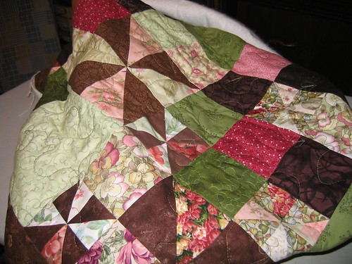 Quilted, waiting for binding