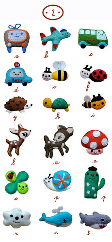 Felt brooches collection