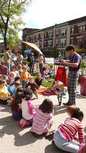 Puppeteer Ronny Wasserstrom at Sustainable Flatbush Park(ing) Day 2010