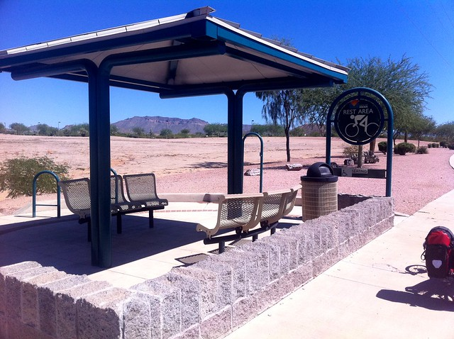 Bike rest area in Mesa AZ