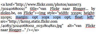 van Flickr  naar Blogger...