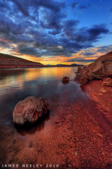 Dinner Break (James Neeley) Tags: sunset landscape utah nikon hdr lakepowell 5xp jamesneeley d3s
