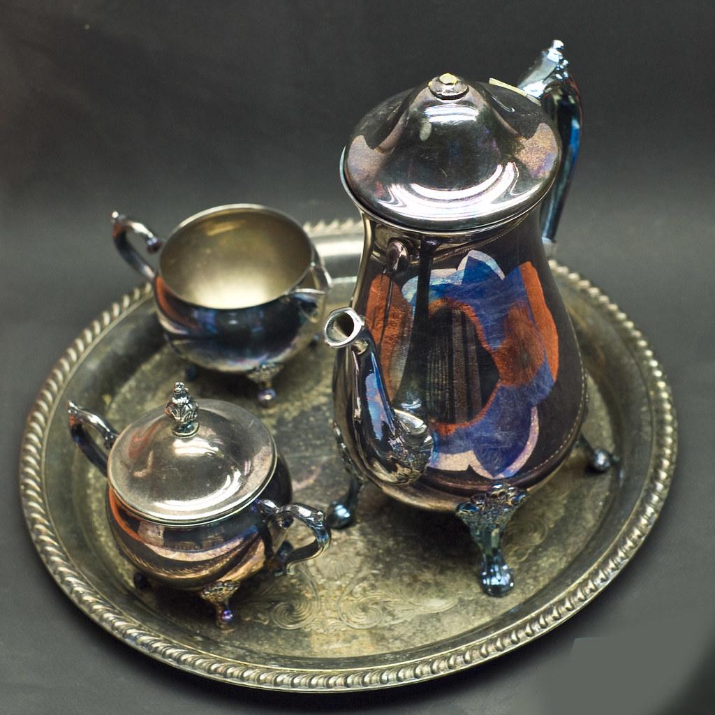 Silver Tea Set Top