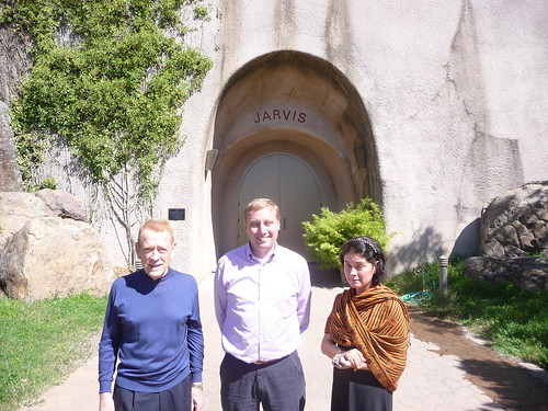 With Mr. & Mrs. Jarvis at the winery cave entrance