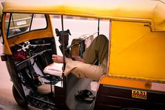 (n00bi) Tags: auto sleeping india color colour feet 35mm evening nikon lifestyle oasis if tuktuk rest f18 afs dx koramangala wallah autorikshaw d40 banagalore