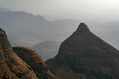 View of Ghats-Pune (sanmang610) Tags: travel india tourism water station horizontal point landscape view wind cone hill perspective scenic canyon hills erosion maharashtra shiva pune ghats linga