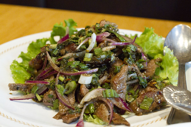 Yum moo yang (grilled pork salad)