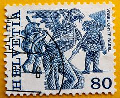 beautiful stamp Helvetia 80 r Swiss Schweiz bollo francobolli Switzerland timbres Suisse Vogel Gryff Basel marka Helvetia 80r (stampolina) Tags: blue azul postes blauw blu stamps azure bleu porto blau azzurro  niebieski mythology mavi postage franco biru bleue revenue philately vis selo marka bl sello filatelia asul sininen blou postagestamps briefmarken pulu      francobollo plava timbres kk  timbreposte bollo blr  zils timbresposte mlynas philatelie modr   timbru azzur    muxanh philatlique   estampill frankatur  bollato postapulu jyu  yupiouzhu  perangkoperangko