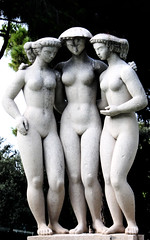 Art Deco Graces (wamcclung) Tags: park sculpture france fountain female garden nude 1930s nice erotic cotedazur statues sensual threegraces artdeco frenchriviera