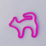 Shaped rubber bands: cat purple