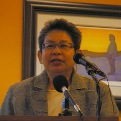 Sandy Samaniego, executive director of the Alaska Council on Domestic Violence & Sexual Assault