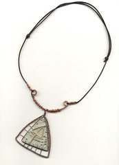 arsenic 5 (paperpam2000) Tags: new old carved wire hand lace collection copper arsenic pendants polymer