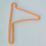Shaped rubber bands: flag orange