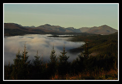 Glen Garry mist (marlesghillie) Tags: morning mist mountains fog dawn scotland glengarry lochgarry blearyeyed temperatureinversion