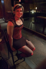 Susie's Lookin' Great (nep) Tags: red raw corset stool burlesque supersusie