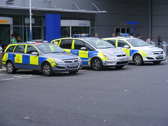 Police Cars at Luton Airport UK (sean and nina) Tags: blue cars lights cops police vehicles emergency smax