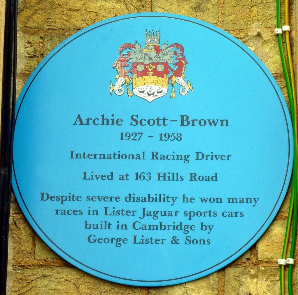 Archie Scott Brown Blue Plaque Open Plaques