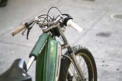 Peugeot (Terry Barentsen) Tags: sf sanfrancisco california ca color cali 35mm bay bayarea moped canona1 westcoast peugeot 100mmf28 terryb fuji400h wwwterrybarentsencom terrybarentsen