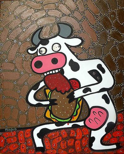 Mad Cow / vaca loca by Parodias de Pinturas Famosas