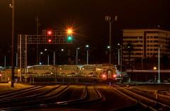 San Bernardino Trackage - Night Test Shot 1 (ChasingSteel.com) Tags: railroad night train clear metrolink hdr sanbernardino chasingsteelcom sangabrielsubdivision