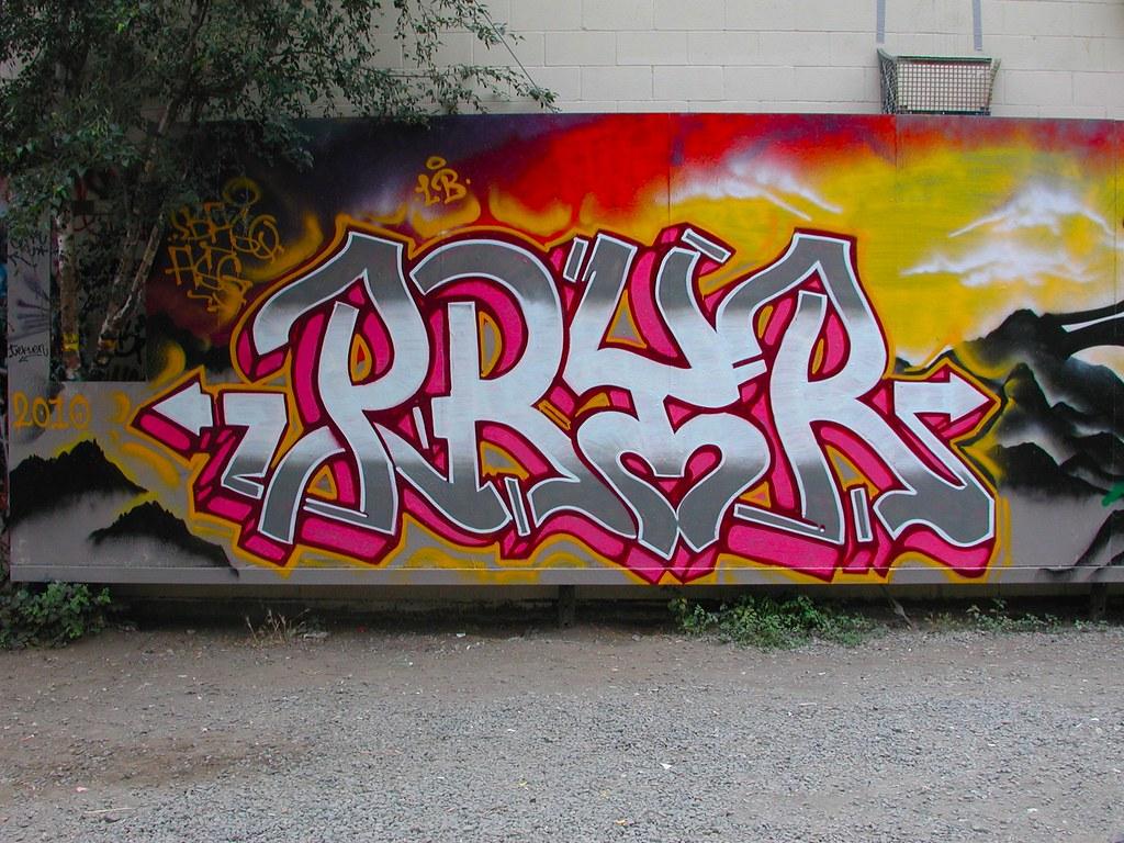 PRYR, Graffiti, Free Wall, Petaluma