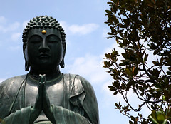Stance (Aaron Webb) Tags: japan temple tokyo buddha   tokyojapan tennoji buddhastatue  japanday4  gokokusantennoji
