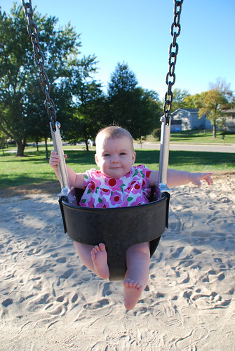 Swinging for the first time