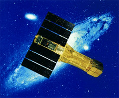 Artists rendering of the ASCA satellite