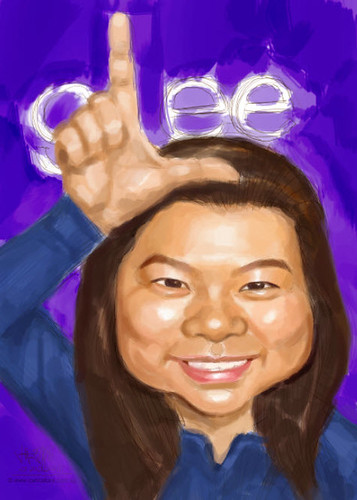 Glee-themed caricature - 1 small