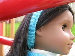 Headband (Nethilia) Tags: sonali socks sweater knitting americangirl