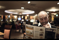 Indecision (Dkillock) Tags: light portrait david bar 35mm canon menu pub dad open angle bokeh mark f14 father wide wideangle full parent ii frame thinking 5d choice usm fullframe tones ef mk decision wetherspoons mkii markii wideopen indecision llens canonef35mmf14lusm killock 5dmarkii 5d2 5dmkii dkillock davidkillockphotography