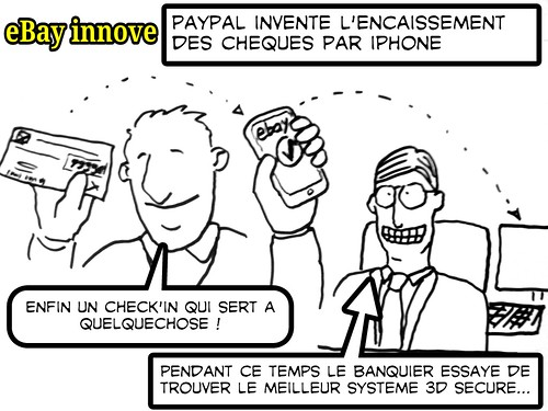 Le cheque-in façon Paypal: picture paypal cheque-in by danielbroche