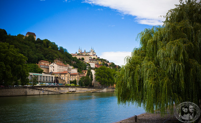 Fourvière Viewed From The Bank Of The Saône