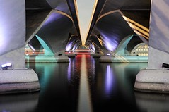 Esplanade Drive Bridge, Marina Bay, Singapore (Mo Baig) Tags: longexposure travel bridge copyright reflection architecture night buildings reflections lights lowlight nikon singapore asia view structures engineering views allrightsreserved marinabay d90 platinumphoto nikond90 nikkor35mmf18afs bestcapturesaoi elitegalleryaoi mobaig