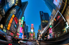 Times Square New York City (MattSherman) Tags: new york city nyc motion square movement nikon manhattan fisheye times 105 d300s