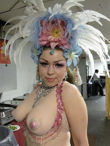 Amber Ray Backstage at the New York Burlesque Festival 2010