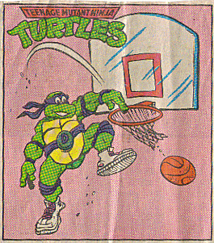 Teenage Mutant Ninja Turtles { newspaper strip } .. Basketball Don ..art by Lawson - isolated :: 02091992