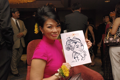 Caricature live sketching for The DPH Sunflower Ball 2010 -1